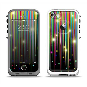The Falling Neon Color Strips Apple iPhone 5-5s LifeProof Fre Case Skin Set