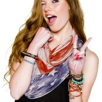 Brandy Melville USA - American Flag Scarf