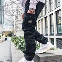 hcxx 1382 stone island 19ss Baggy overalls and slacks