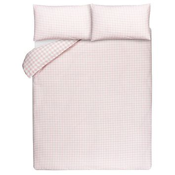 Pink Gingham Print Duvet Cover | Home & Garden | George