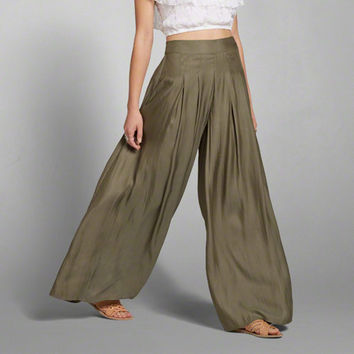 Pleated Satin Drapey Pants