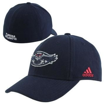 adidas FAU Owls Basic Logo Flex Hat - Navy Blue