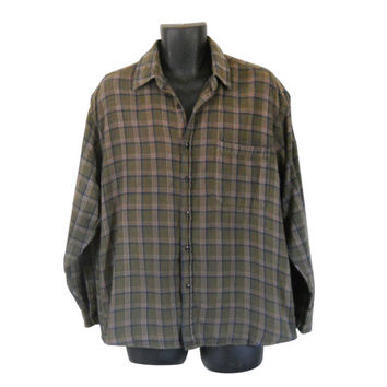 Army Green Flannel Shirt Blue Flannel Shirt 90s Grunge Flannel Shirt Men Flannel Shirt Plaid Flannel Shirt Men Grunge Lumberjack Shirt