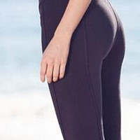 Pure Color Bandage Yoga 8/10 Elastic Slim Leggings