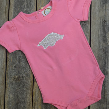 Girls Razorback Onsie by Mandy Lou {Pink}