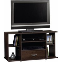 "Sauder Beginnings Cinnamon Cherry Panel TV Stand for TVs up to 42"" - Walmart.com"