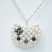 Swarovski Pearl Hello Kitty Reversible Necklace