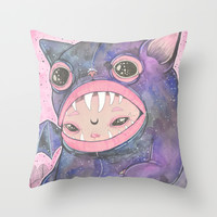Boooh! Throw Pillow by LOll3
