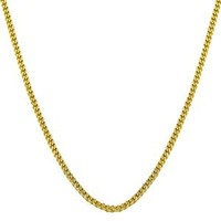14k Yellow Gold 0.7mm Thin Curb Link Chain (18 inch)