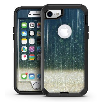 Scratched Blue and Gold Showers - iPhone 7 or 7 Plus OtterBox Defender Case Skin Decal Kit