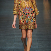Dolce & Gabbana | Embellished wool-blend mini dress | NET-A-PORTER.COM