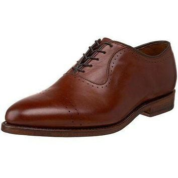 NEW Allen Edmonds Men's Vernon Oxford SADDLE BROWN SHOES