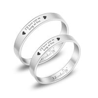 2 Rings-Free Engraving promise rings,Wedding Bands Couple Rings, Lovers rings, his and hers promise ring sets, wedding rings, valentine gift