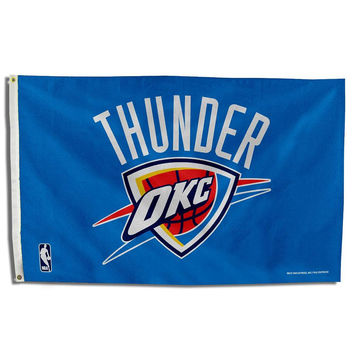 Oklahoma City Thunder NBA 3ft x 5ft Banner Flag