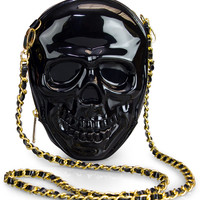 """Skull"" 3D Molded Crossbody Bag by Loungefly (Black)"