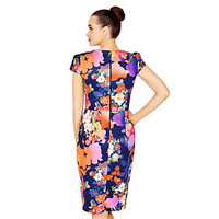 BLAZING BLOOMS MIDI DRESS: Betsey Johnson
