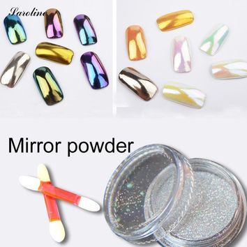 glitter Metallic Mirror Effect Holographic powder Chrome Powder Sponge Stick Mirror Powder Bling Pigment for Nail Art