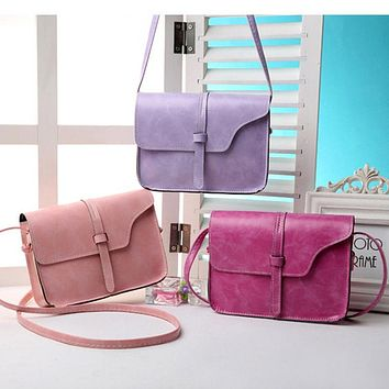 Fashion Women Handbag PU Leather Crossbody Messenger Bag Vintage Shoulder Bags Briefcase LT88
