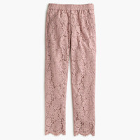 J.Crew Womens Petite Pull-On Pant In Floral Lace