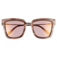 Tom Ford Lara 52mm Mirrored Square Sunglasses | Nordstrom