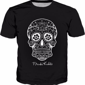 Frida Kahlo Sugar Skull Classic Black T-Shirt