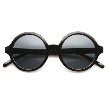Retro Sleek Large Round Fashion Sunglasses 8704