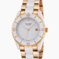 Kate Spade Large Seaport Grand Watch Rose Gold/White ONE
