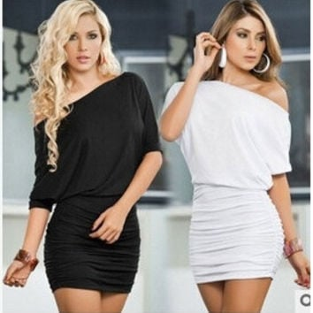 Sexy summer women dress, hot sell club summer women dress ,black strapless women dress = 1956861060