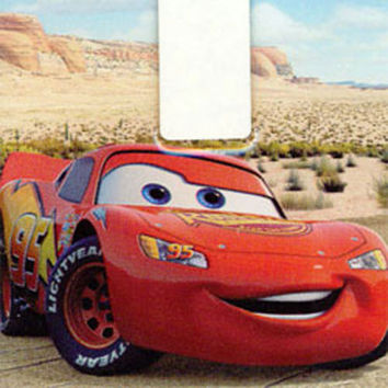 Disney Cars McQueen Single Light Switch Plate Sticker Decal