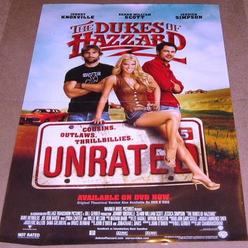 The Dukes Of Hazzard Unrated 2005 Movie Poster 27x40 Used Jessica Simpson, Johnny Knoxville, Willie Nelson, Burt Reynolds