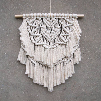 Modern macrame wall hanging Bohemian bedroom decor idea Boho decor Home accents Unique wall decor Christmas gift for mom Housewarming gift