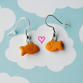 Goldfish Earrings by BabyLovesPink on Etsy