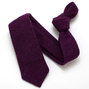 1960s Bright Plum Textured Necktie