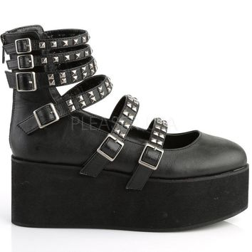 Strappy & Studded Mary Jane Rave Shoes