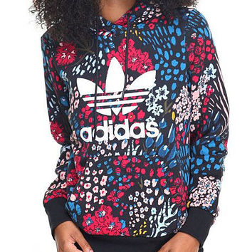 ADIDAS Fashion floral pullover hoodie