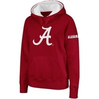 Alabama Crimson Tide Ladies Big Logo Pullover Hoodie Sweatshirt - Crimson