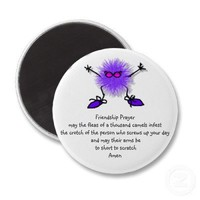 Friendship Prayer Fridge Magnets from Zazzle.com