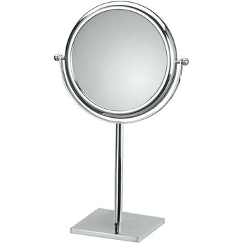Kin Countertop Round Cosmetic Makeup Magnifying Mirror - Brass