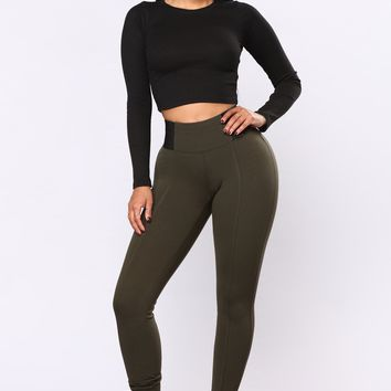 Classic Ponte Leggings - Green