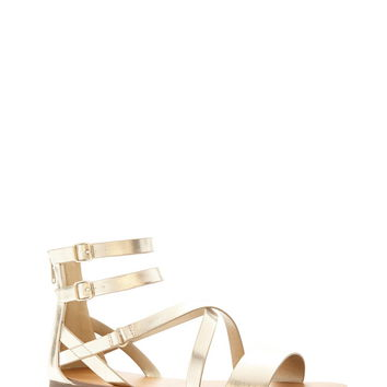 Strappy Metallic Sandals | Forever 21 - 2000185535