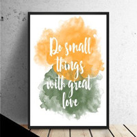 Typography quote print, colorful watercolor poster, quote poster, quote wall art (C141)