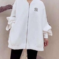 """""""NY"""" Woman Casual Wild Fashion Letter Print Long Sleeve Tops"""