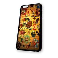 Wood sticker bomb iPhone 6 Plus case