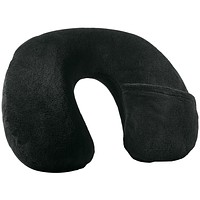 Travel Smart By Conair Inflatable Fleece Neck Rest (black)