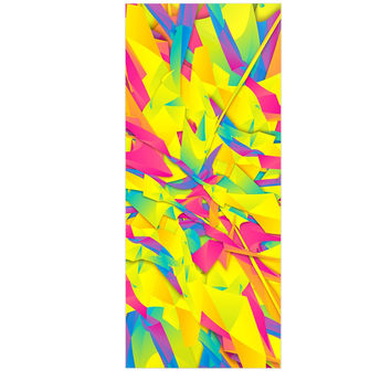 "Danny Ivan ""Bubble Gum Explosion"" Pink Yellow Luxe Rectangle Panel"
