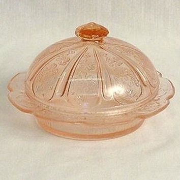 Pink Round Butter Dish
