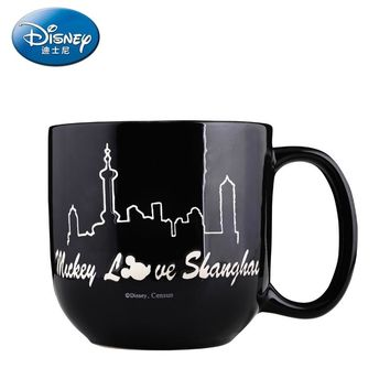 Disney 450ML Mug Coffee Cup Milk Tea Mug Keep Mugs With Handle Anti-Dust Coffee Cups Seal Mass Tea Water Bottle