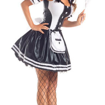 Foxy Maid Strappy Mini Skater Costume Set