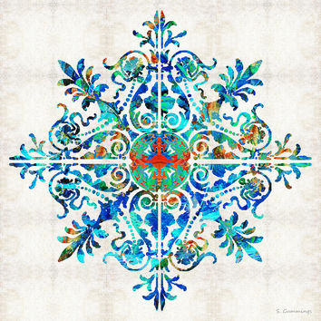 Colorful Pattern Art - Color Fusion Design 5 By Sharon Cummings