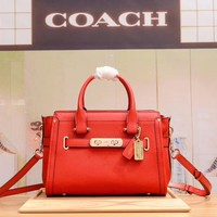 COACH WOMEN'S LEATHER SWAGGER HANDBAG SHOULDER BAG